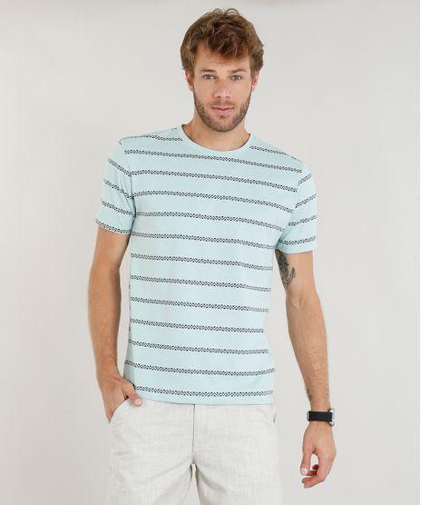 Camiseta-Masculina-Estampada-Etnica-Manga-Curta-Decote-Careca-Verde-Claro-9415309-Verde_Claro_1