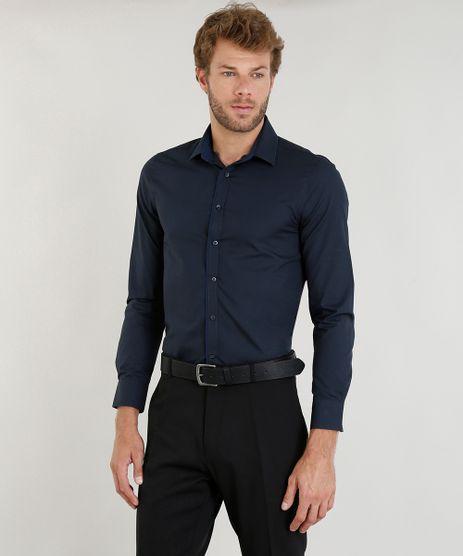 Camisa-Masculina-Slim-Manga-Longa-Azul-Marinho-9220966-Azul_Marinho_1