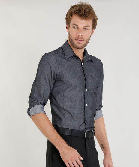 Camisa-Masculina-Comfort-Texturizada-com-Bolso-Manga-Longa-Chumbo-9249075-Chumbo_1