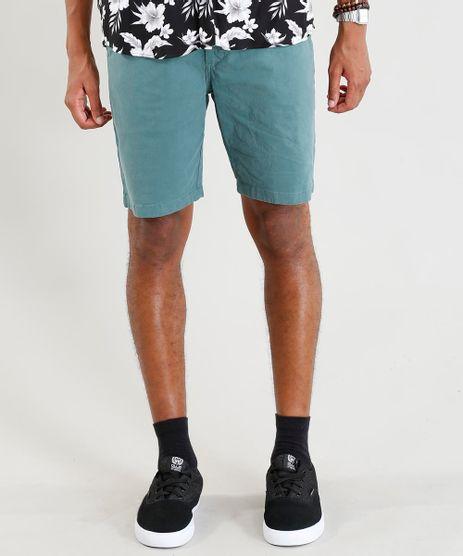 Bermuda-de-Sarja-Masculina-Slim-Verde-9410296-Verde_1