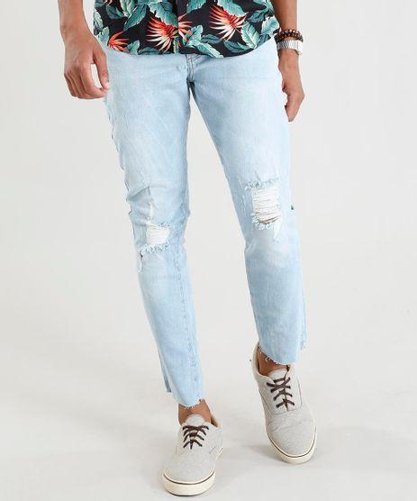 Calca-Jeans-Masculina-Carrot-com-Rasgos-Azul-Claro-9393698-Azul_Claro_1