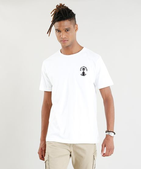 Camiseta-Masculina-com-Bordado-E-T--Manga-Curta-Gola-Careca-Branca-9414394-Branco_1