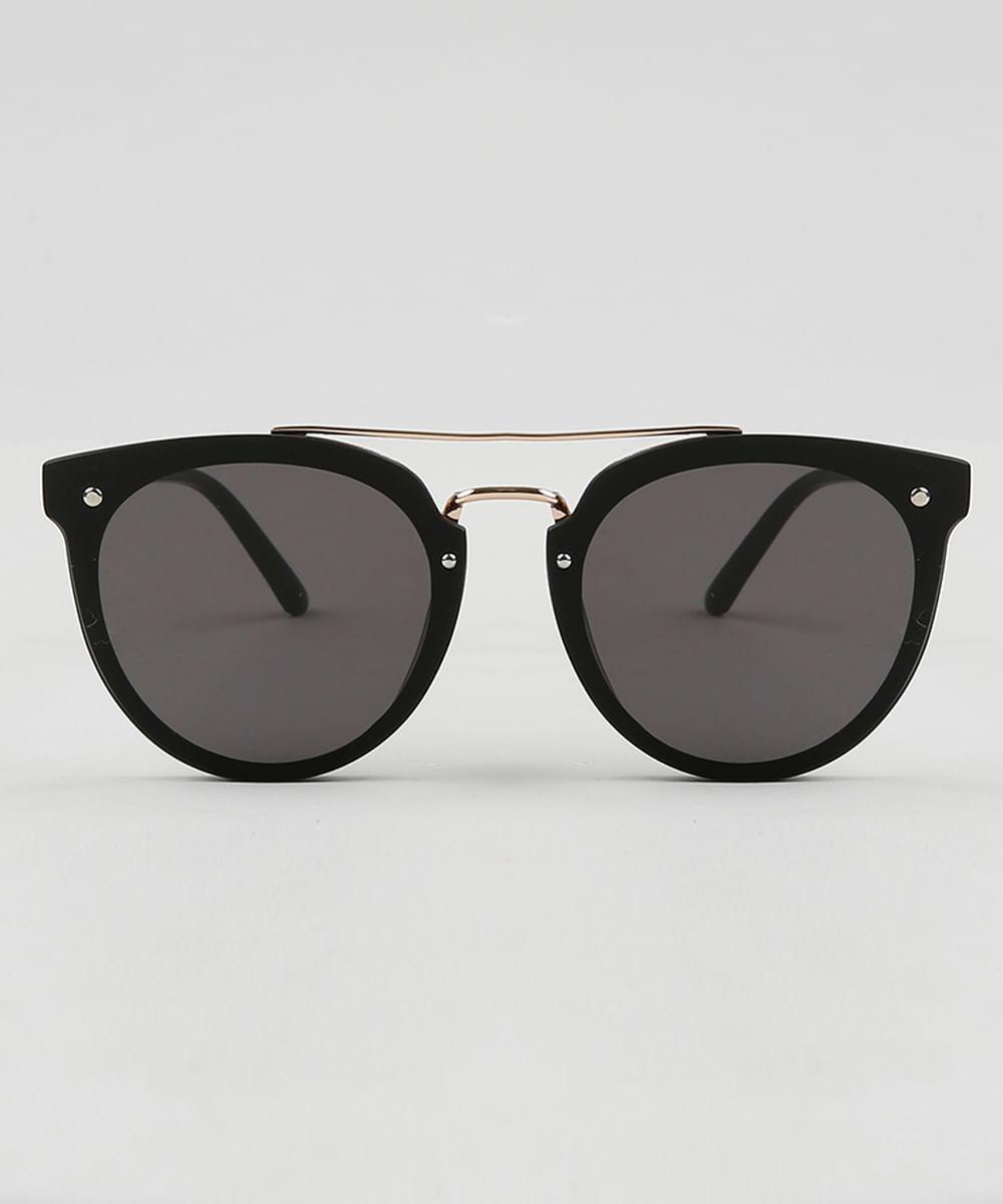 C A BR   Oneself. Óculos de Sol Redondo Feminino Oneself Preto ... e256d4324c