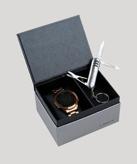 877ea42a014 Kit-de-Relogio-Digital-Lince-Unissex---Chaveiro-