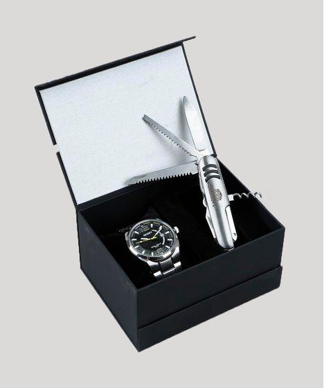 3adc5c20e Kit de Relógio Analógico Orient Masculino + Canivete - MBSS1336 ...