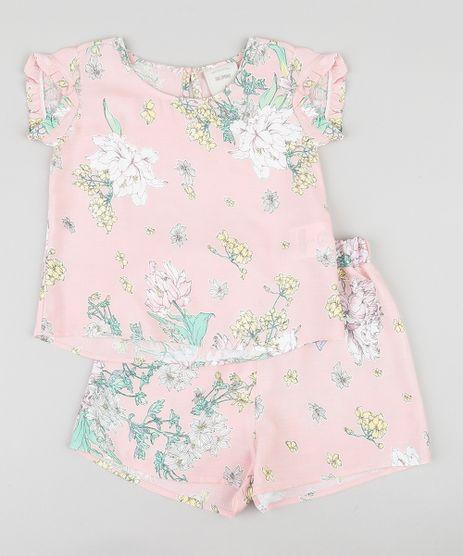 Conjunto-Infantil-Estampado-Floral-Manga-Curta-Rosa-Claro-9389413-Rosa_Claro_1
