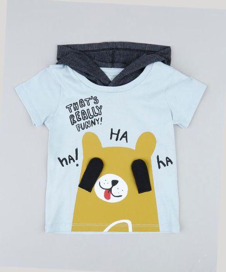Camiseta-Infantil-com-Estampa-Interativa-e-Capuz-Manga-Curta-Cinza-Claro-9407310-Cinza_Claro_1