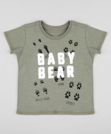 Camiseta-Infantil--Baby-Bear--Manga-Curta-Gola-Careca-Verde-Militar-9403033-Verde_Militar_1