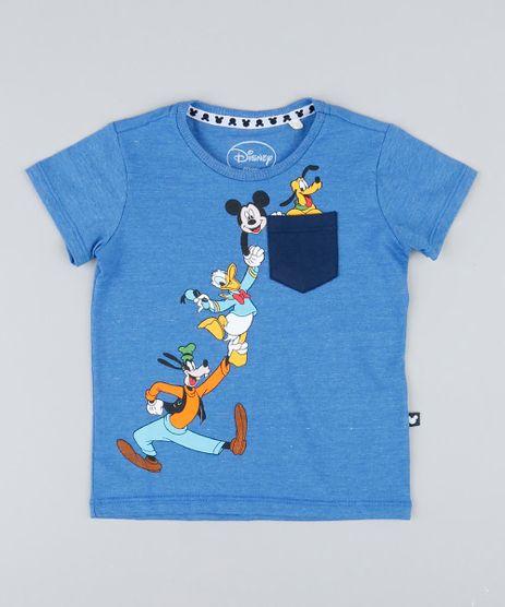 Camiseta-Infantil-Turma-do-Mickey-com-Bolso-Manga-Curta-Gola-Careca-Azul-9427329-Azul_1