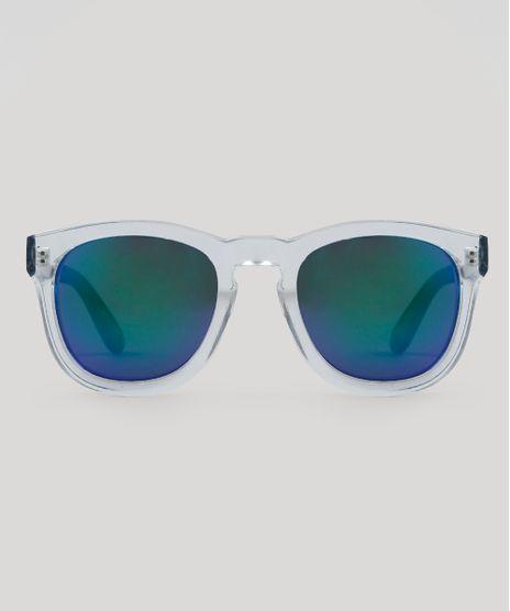 a92404993bb37 Oculos-de-Sol-Quadrado-Masculino-Oneself-Transparente-9482438-