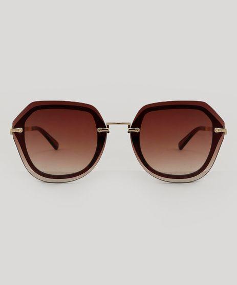 ceddffc45dd00 Oculos-de-Sol-Quadrado-Feminino-Marrom-9479733-Marrom 1