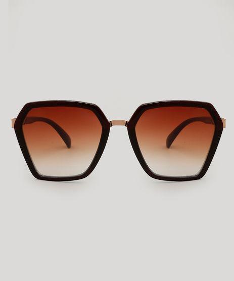 Oculos-de-Sol-Geometrico-Feminino-Marrom-9479718-Marrom 1 9eb941a4dd