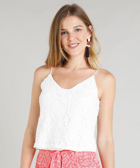 Regata-Feminina-em-Renda-Alcas-Finas-Decote-V-Off-White-9354866-Off_White_1