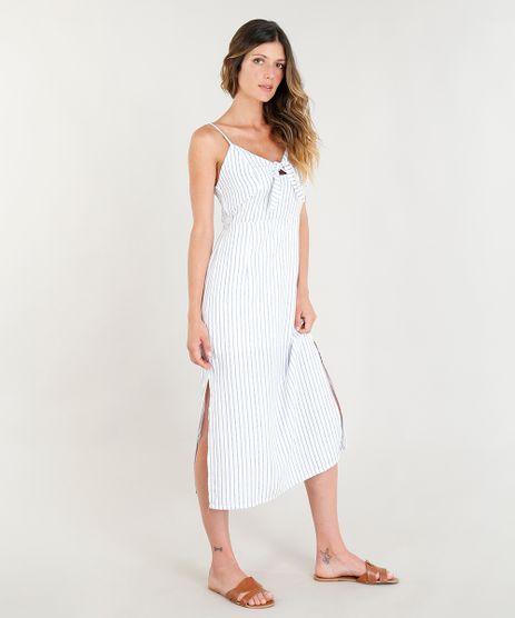 Vestido-Midi-Mindset-Listrado-com-Laco-e-Fendas-Alcas-Finas-Decote-V-Off-White-9258508-Off_White_1