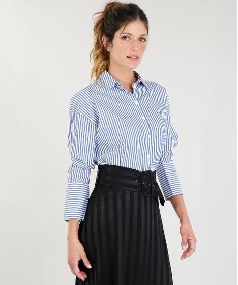 Camisa-Feminina-Mindset-Listrada-Manga-Longa-Azul-9385662- ... 90048e4624929