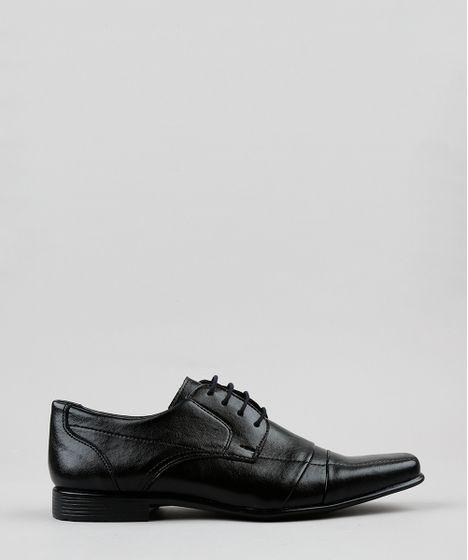 1ba9672ecd Sapato Social Masculino com Cadarço Bico Quadrado Preto - cea