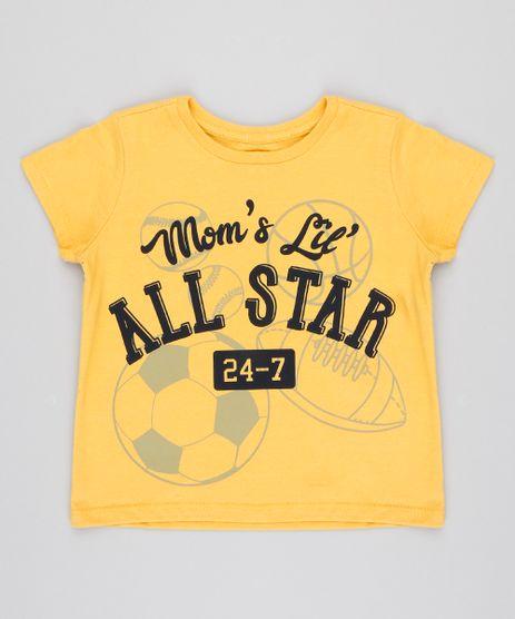 Camiseta-Infantil--All-Star--Manga-Curta-Gola-Careca-Amarela-9426398-Amarelo_1