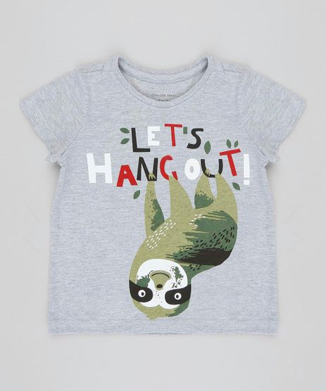 Camiseta-Infantil-Bicho-Preguica-Manga-Curta-Gola-Careca-Cinza-Mescla-9426399-Cinza_Mescla_1
