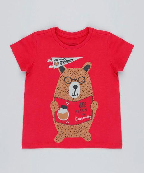 Camiseta-Infantil-Urso-Manga-Curta-Gola-Careca-Vermelha-9426396-Vermelho_1