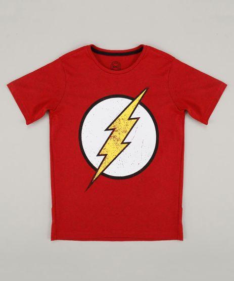 Camiseta-Infantil-The-Flash-Manga-Curta-Gola-Careca-Vermelha-8397550-Vermelho_1