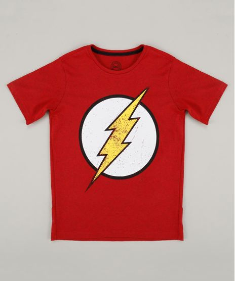 Camiseta-Infantil-The-Flash-Manga-Curta-Gola-Careca- 2f5cbf78d7a