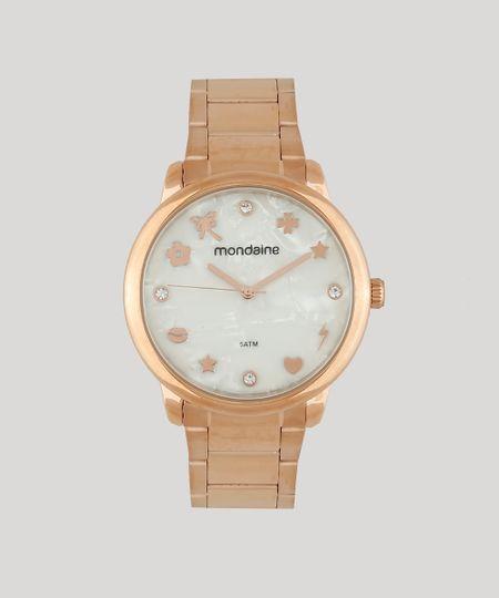 83048a9335a Relógio Analógico Mondaine Feminino - 53685LPMKRE2 Rosê - cea