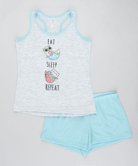 Pijama-Infantil-Gato-Sereia-Regata-Cinza-Mescla-Claro-9405735-Cinza_Mescla_Claro_1