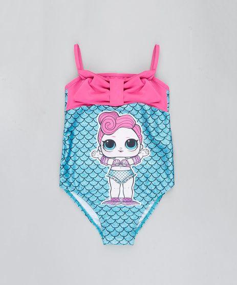 Maio-Infantil-LOL-Surprise-Estampado-com-Laco-Protecao-UV50--Verde-Agua-9386629-Verde_Agua_1
