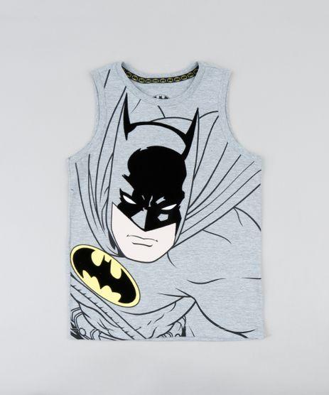 492fe74446 Regata-Infantil-Batman-Gola-Careca-Cinza-Mescla-9391737-