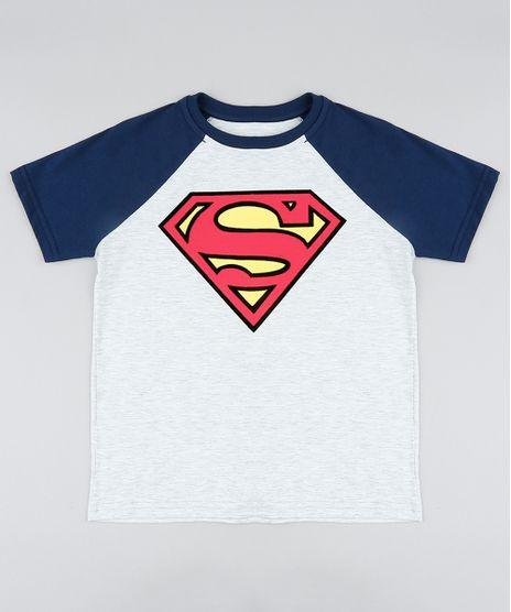Camiseta-Infantil-Super-Homem-Raglan-Manga-Curta-Gola-Careca-Cinza-Mescla-Claro-9410328-Cinza_Mescla_Claro_1