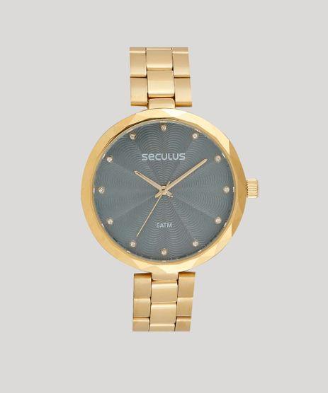 1539968c748 Relogio-Analogico-Seculus-Feminino---77039LPSKDS1-Dourado-9474226-