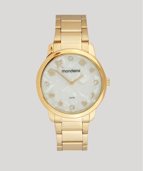 b58b9b9c11c59 Relógio Analógico Mondaine Feminino - 53685LPMKDE1 Dourado - cea