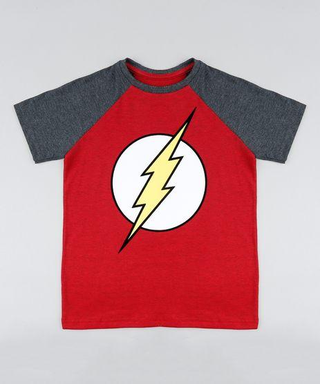 Camiseta-Infantil-The-Flash-Raglan-Manga-Curta-Gola-Careca-Vermelha-9410327-Vermelho_1