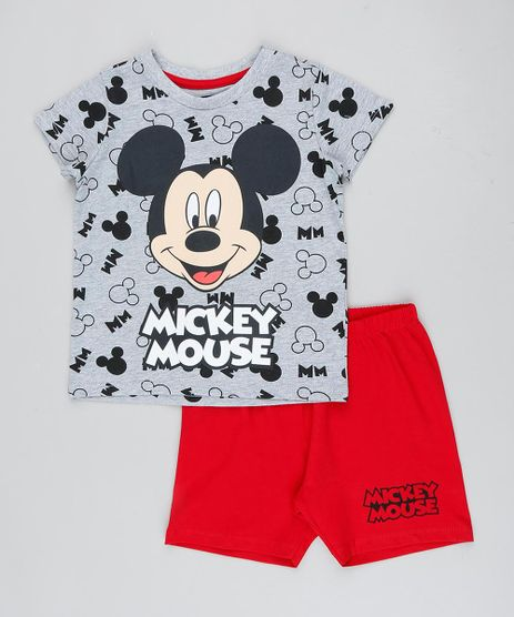 Pijama-Infantil-Mickey-Estampado-Manga-Curta-Cinza-Mescla-9418594-Cinza_Mescla_1
