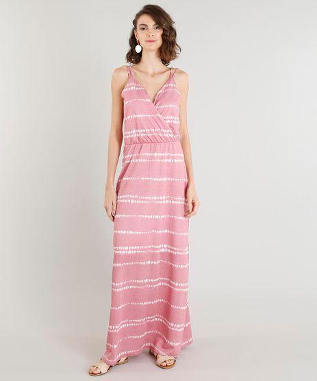 Vestido-Feminino-Longo-Estampado-Alca-Dupla-Decote-V-Rosa-9431868-Rosa_1