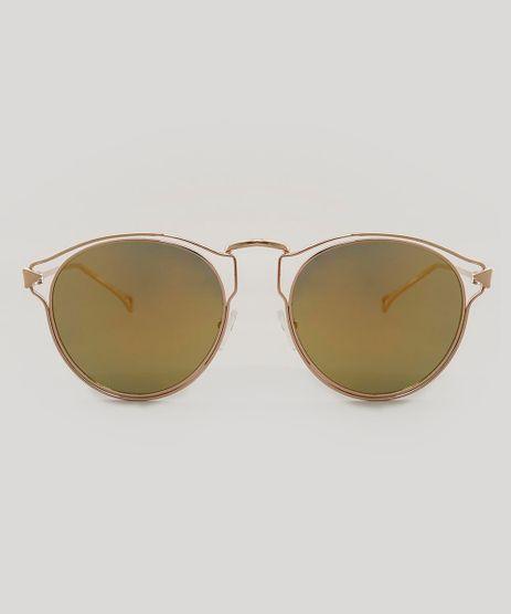 Oculos-de-Sol-Redondo-Feminino-Dourado-9474099-Dourado_1