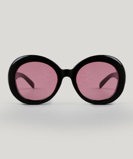 Oculos-de-Sol-Redondo-Feminino-Preto-9485603-Preto_1