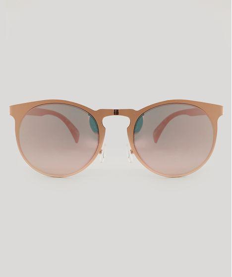 6d282c28ba851 Óculos de Sol Redondo Feminino Rosê - cea