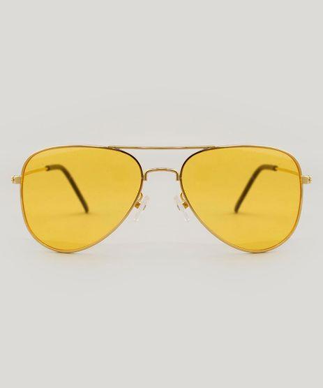 23652826921e1 Oculos-de-Sol-Aviador-Unissex-Dourado-9485672-Dourado 1