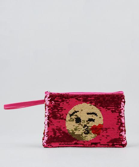 Bolsa-de-Mao-Infantil-com-Paete-Dupla-Face-Icone-Pink-9280619-Pink_1