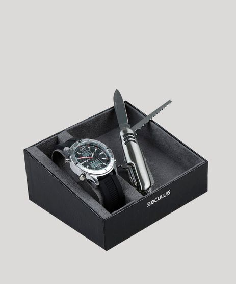 Kit-de-Relogio-Analogico-Seculus-Masculino---Canivete---20751G0SVNI1K-Prateado-9399747-Prateado_1