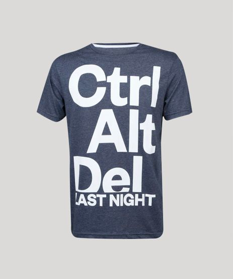 Camiseta-Masculina-Carnaval--Ctrl-Alt-Del-Last-Night--Manga-Curta-Gola-Careca-Cinza-Mescla-Escuro-9413966-Cinza_Mescla_Escuro_1