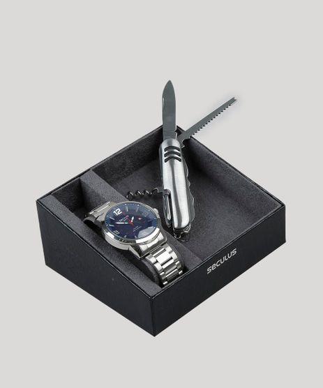 Kit-de-Relogio-Analogico-Seculus-Masculino---Canivete---28991G0SVNA1K-Prateado-9474238-Prateado_1