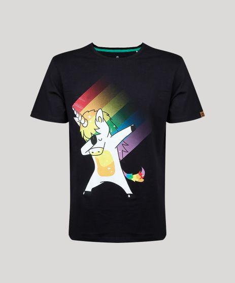 Camiseta-Masculina-Carnaval-Unicornio-Manga-Curta-Gola-Careca-Preta-9436319-Preto_1