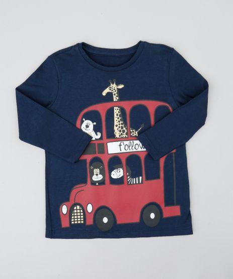 Camiseta-Infantil-Onibus-com-Animais-Manga-Longa-Gola-Careca-Azul-Marinho-9426402-Azul_Marinho_1