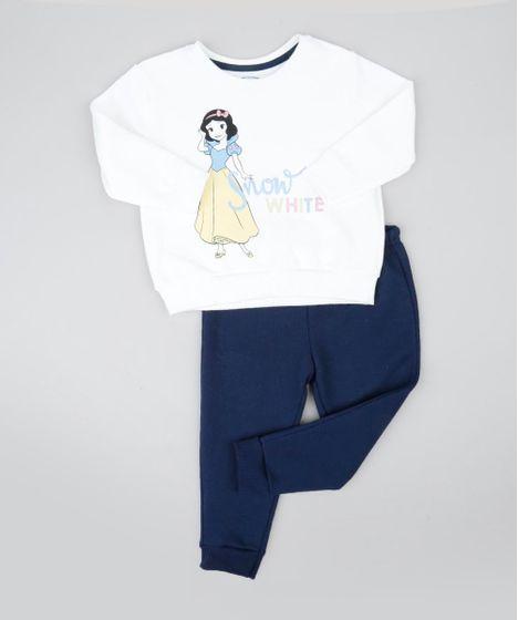 4108cf8752 Conjunto Infantil Branca de Neve de Blusão Off White + Calça em ...