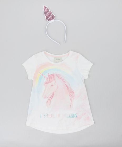 Blusa-Infantil-Carnaval-Unicornio-Manga-Curta---Tiara-Off-White-9433377-Off_White_1