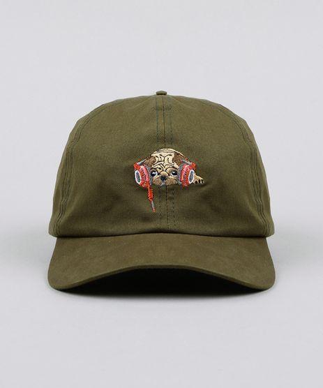 Bone-Masculino-Aba-Curva-com-Bordado-de-Pug-Verde-Militar-9424305-Verde_Militar_1