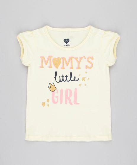 Blusa-Infantil--Momy-s-Girl--com-Glitter-Manga-Curta-Decote-Redondo-Amarelo-Claro-9420118-Amarelo_Claro_1