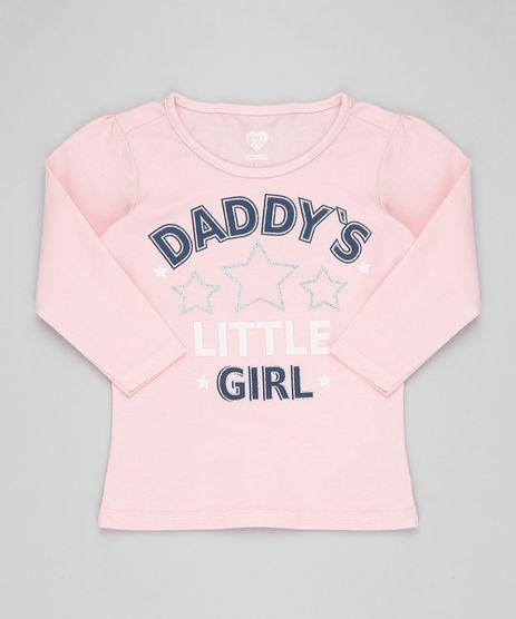 Blusa-Infantil--Daddy-s-Girl--com-Glitter-Manga-Longa-Decote-Redondo-Rosa-9420705-Rosa_1